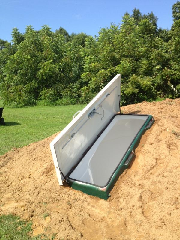 In Ground Shelters : In ground shelter b h storm shelters safe rooms